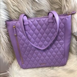 Vera Bradley Quilted Leather Large Tote Lavender